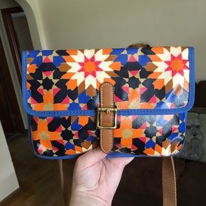 Fossil Starburst Coated Canvas Crossbody